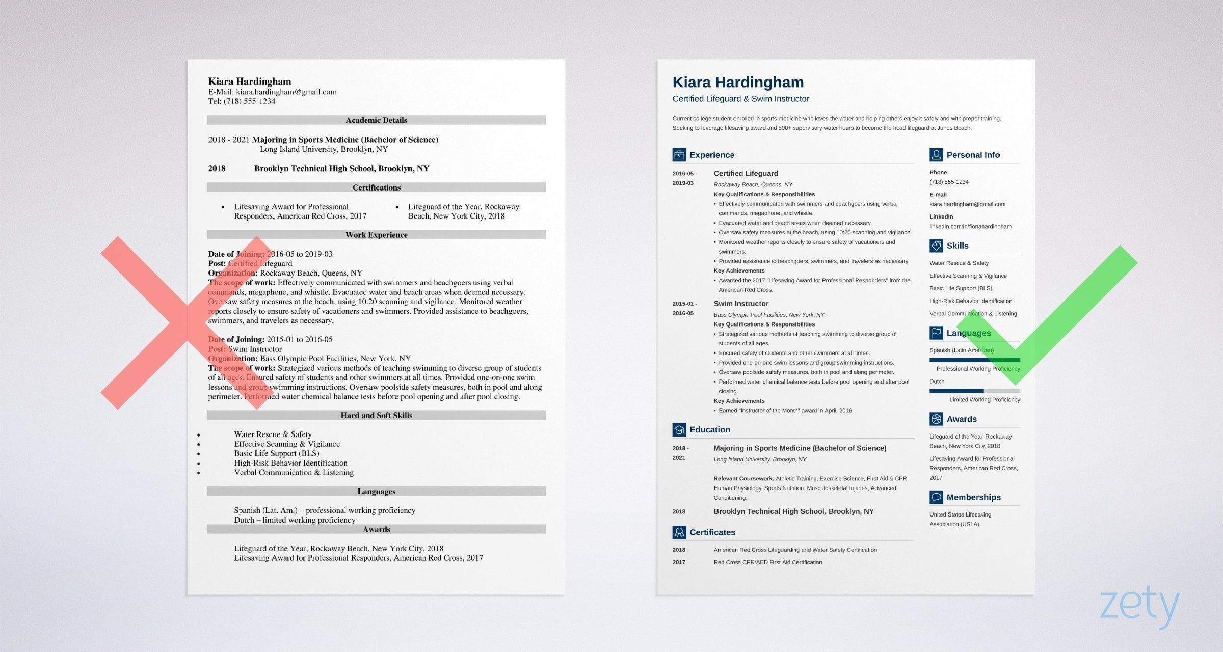 lifeguard resume with job description and skills examples example headline or summary on Resume Lifeguard Resume Examples
