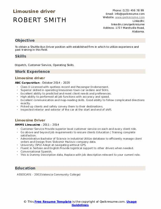 limousine driver resume samples qwikresume dispatcher pdf free templates buzzfeed for Resume Limousine Dispatcher Resume