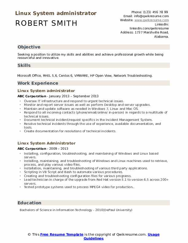 linux system administrator resume samples qwikresume vmware responsibilities pdf best Resume Vmware Administrator Resume Responsibilities
