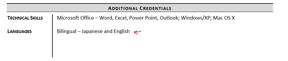 listing languages on resume examples and tips zipjob language proficiency levels example Resume Language Proficiency Levels Resume