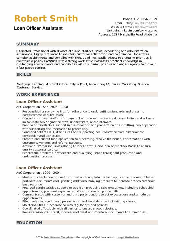 loan officer assistant resume samples qwikresume sample pdf therapist examples free Resume Loan Assistant Resume Sample