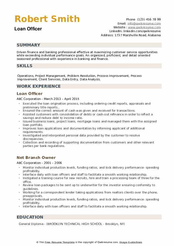 loan officer resume samples qwikresume business example pdf intercompany sample summary Resume Business Loan Resume Example