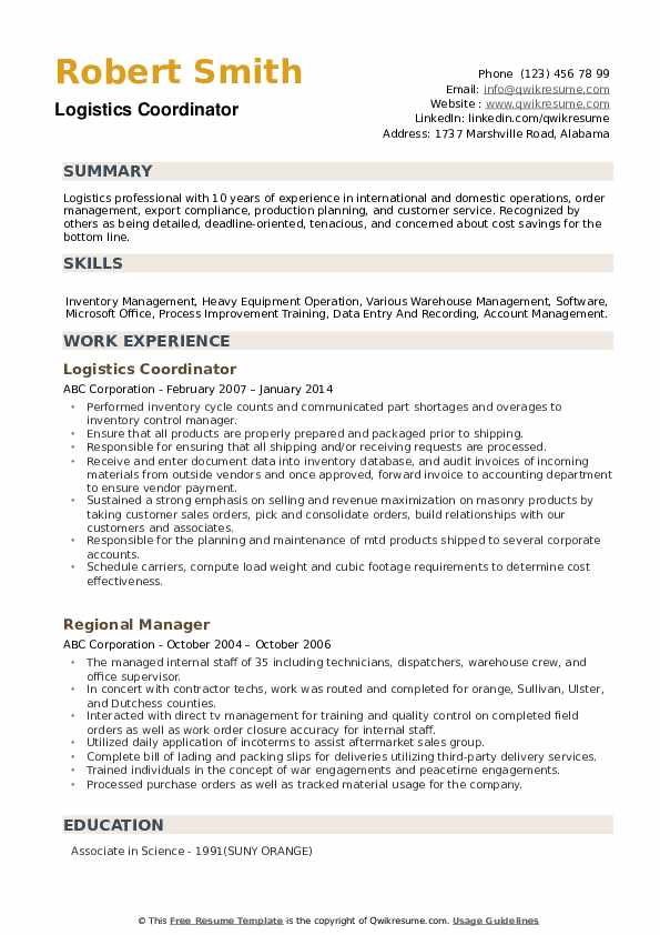 logistics coordinator resume samples qwikresume skills for pdf free extractor janitorial Resume Skills For Logistics Resume