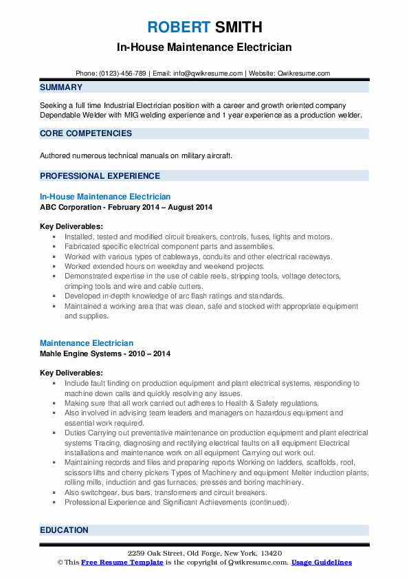 maintenance electrician resume samples qwikresume objective statement pdf assistant word Resume Electrician Resume Objective Statement