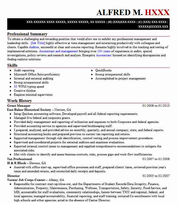 manager resume example district of government ocfo hyattsville sample for data warehouse Resume Sample Resume For Grant Manager