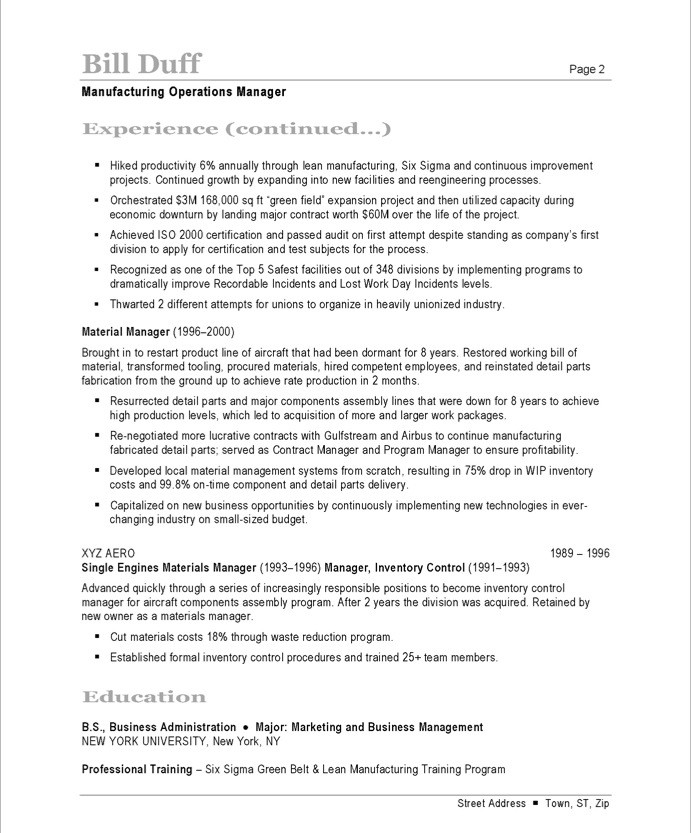 manufacturing manager free resume samples blue sky resumes examples 41after public Resume Manufacturing Resume Examples