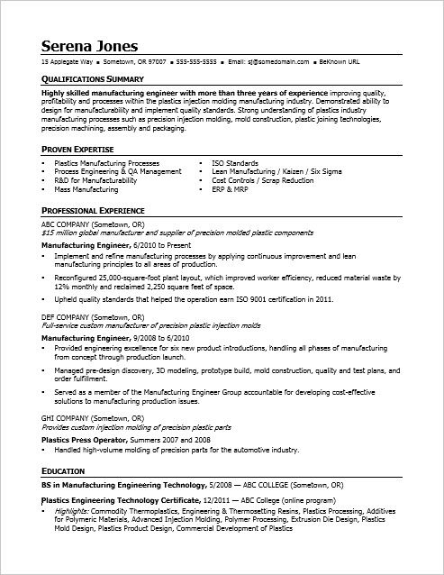 manufacturing resume examples injection molding supervisor genius account login kelly Resume Injection Molding Supervisor Resume