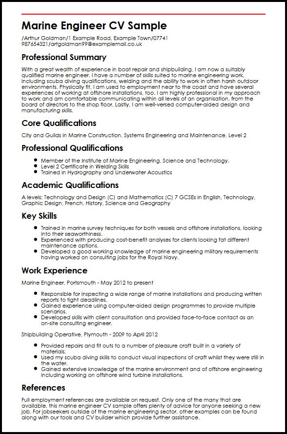 marine engineer cv example myperfectcv chief resume sample process oil and gas policy Resume Marine Chief Engineer Resume Sample