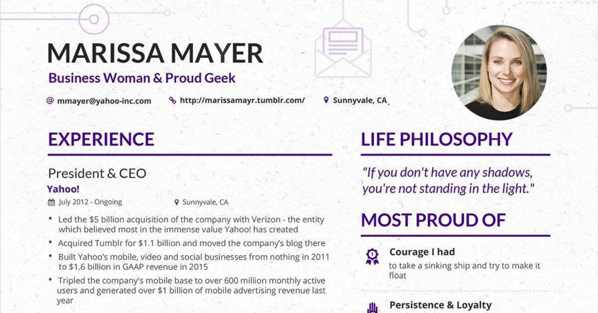 marissa mayer resume has gone viral again but is it all cracked up to linkedin talent Resume Can You Make A Resume On Linkedin