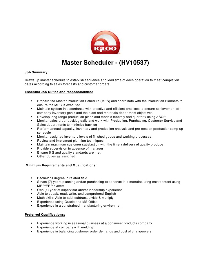 master production scheduler resume tableau developer sample freelance music producer Resume Master Scheduler Resume