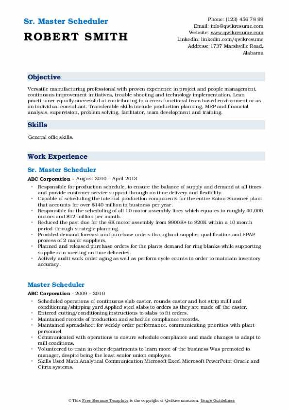 master scheduler resume samples qwikresume pdf en español word tableau developer sample Resume Master Scheduler Resume