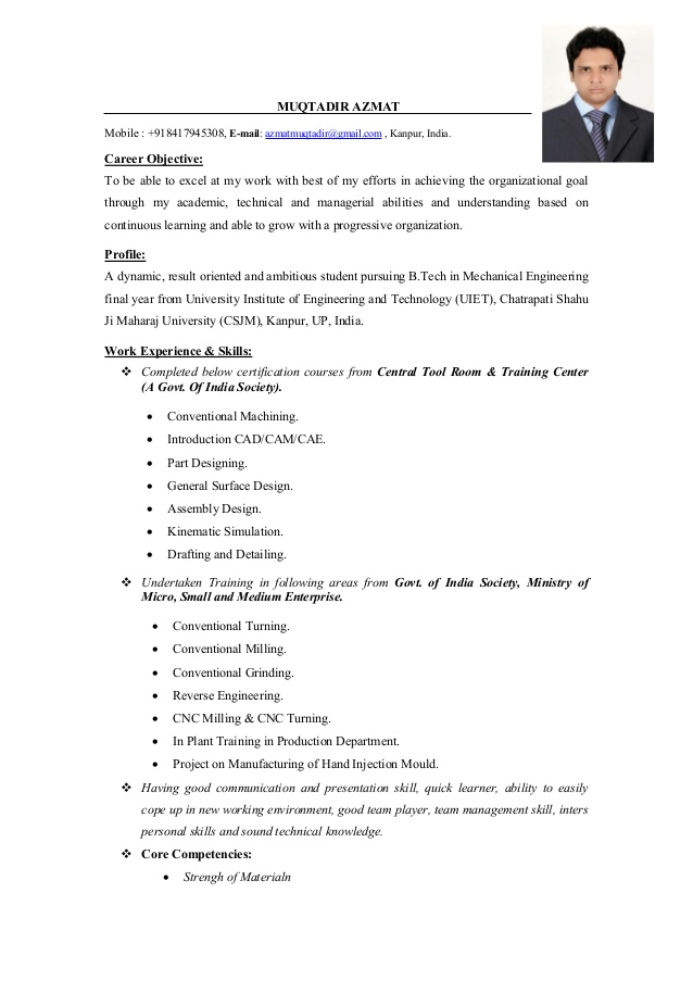 mechanical engineer cv objective for resume fresher landscaping certified professional Resume Objective For Resume For Fresher Mechanical Engineer