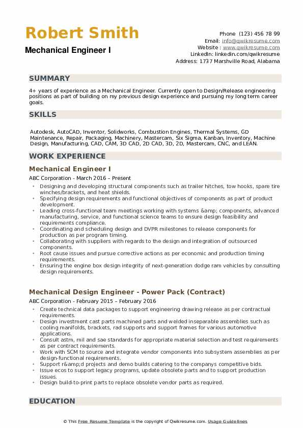 mechanical engineer resume samples qwikresume sample format for experienced pdf should Resume Sample Resume Format For Experienced Mechanical Engineer