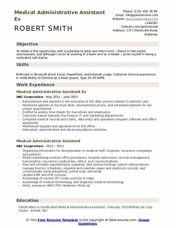 medical administrative assistant resume samples qwikresume admin objective sample pdf Resume Admin Assistant Objective Resume Sample