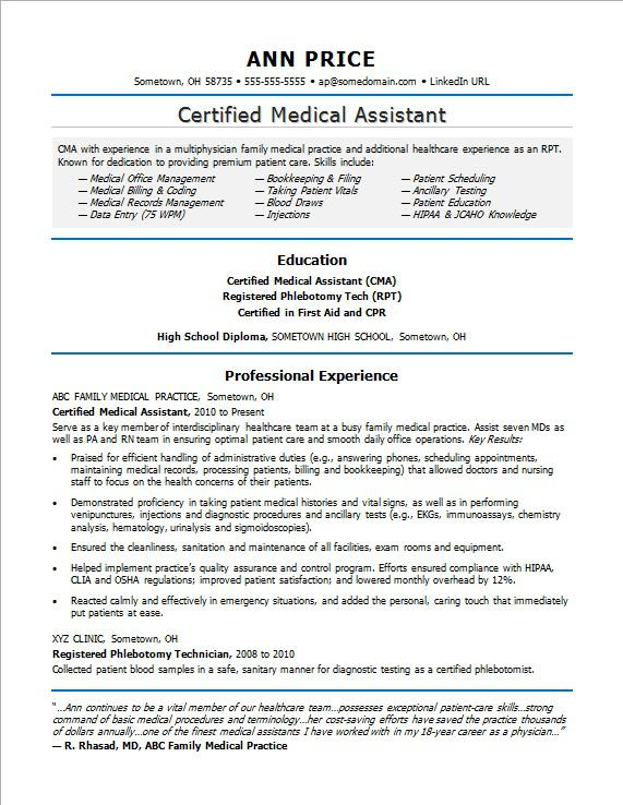 medical assistant resume sample monster caring for family member on materials manager Resume Caring For Family Member On Resume