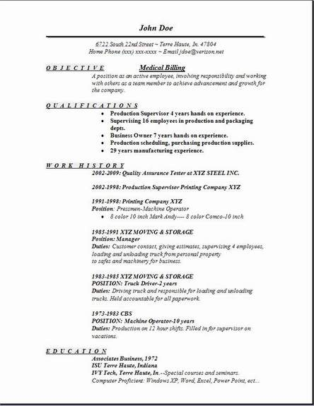 medical billing resume occupational examples samples free edit with word special Resume Medical Billing Resume Examples