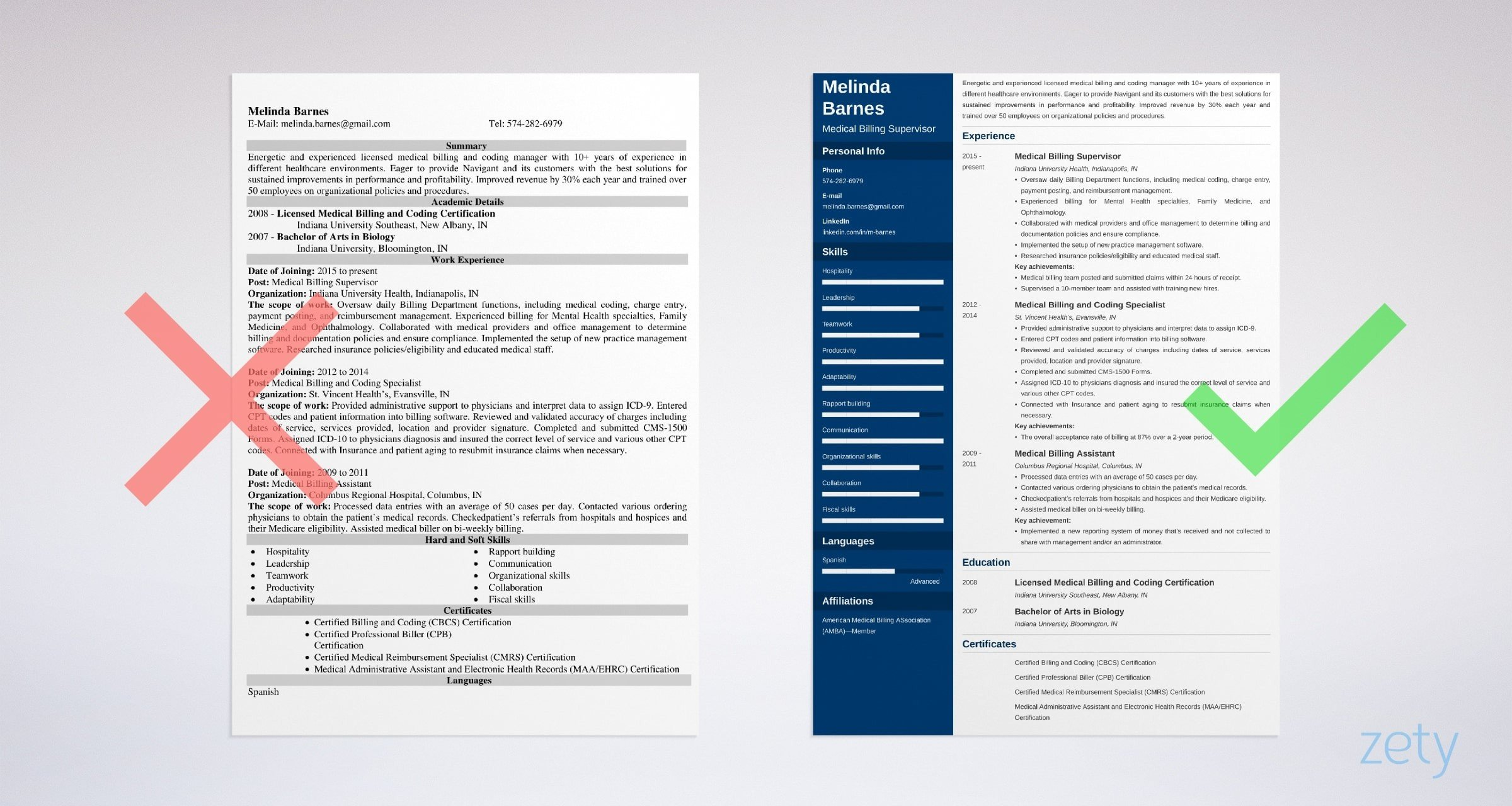 medical billing resume sample writing guide tips and collections specialist example Resume Medical Billing And Collections Specialist Resume