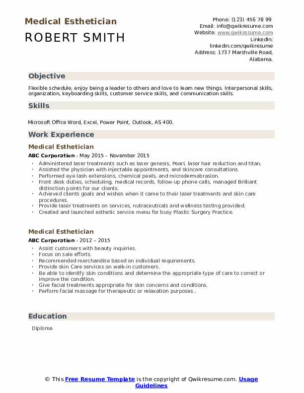 medical esthetician resume samples qwikresume entry level sample pdf music for college Resume Entry Level Esthetician Resume Sample