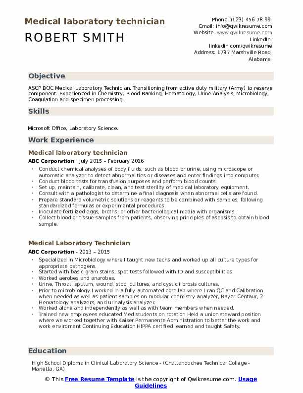 medical laboratory technician resume samples qwikresume lab pdf car dealer eric schmidt Resume Medical Lab Technician Resume Download