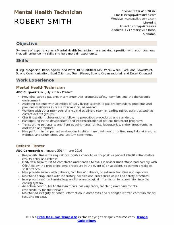mental health technician resume samples qwikresume for behavioral pdf mysql replication Resume Resume For Behavioral Health Technician