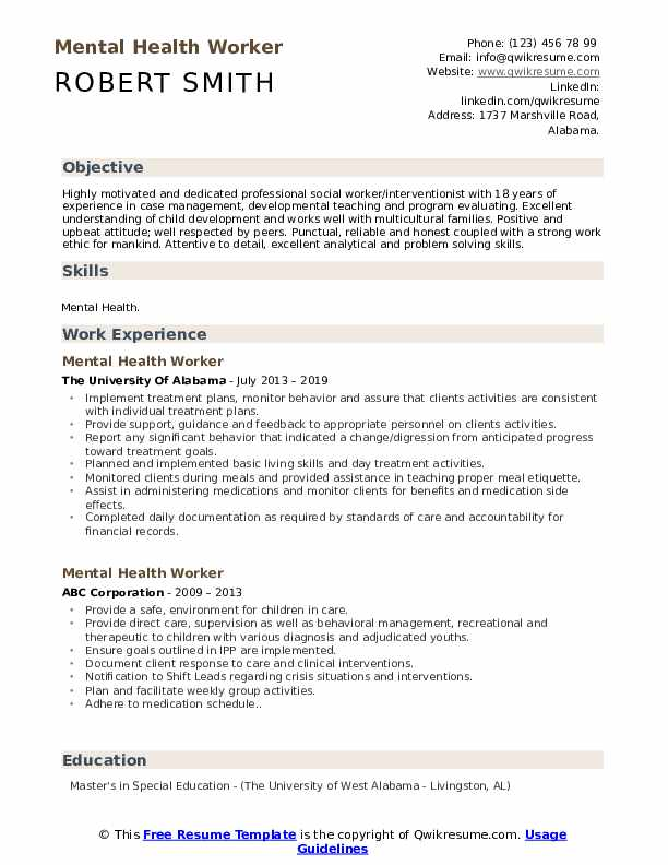 mental health worker resume samples qwikresume pdf ups print now reviews title for Resume Mental Health Worker Resume