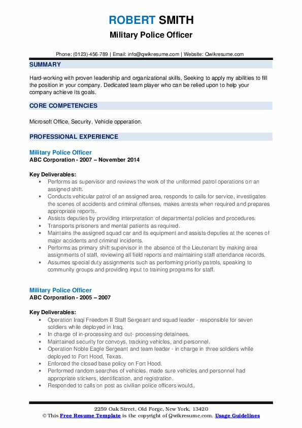 military police officer resume samples qwikresume objective pdf google product manager Resume Military Resume Objective