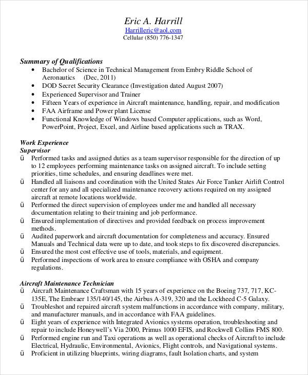 military resume free word pdf documents premium templates samples air force technician Resume Military Resume Samples