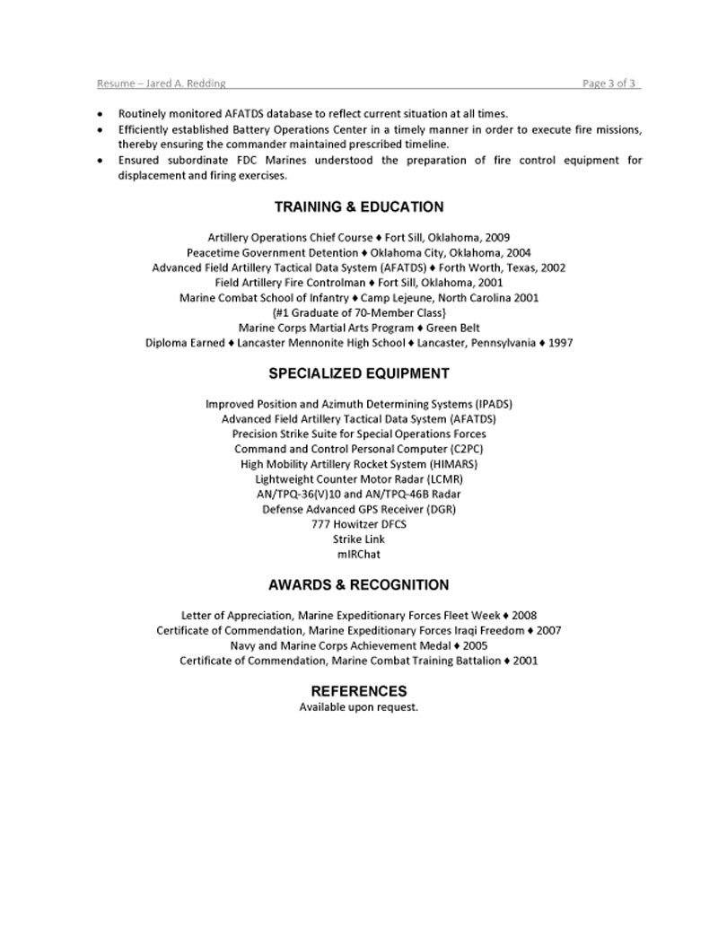 military resume marine corps skills for southworth templates lean consultant sample Resume Marine Corps Skills For Resume