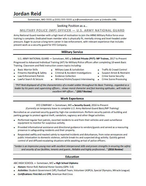 military resume sample monster objective nightclub security occupational therapist Resume Military Resume Objective