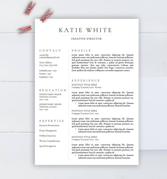 minimalist resume template cv for word two professional medical network engineer with Resume Minimalist Word Resume Template
