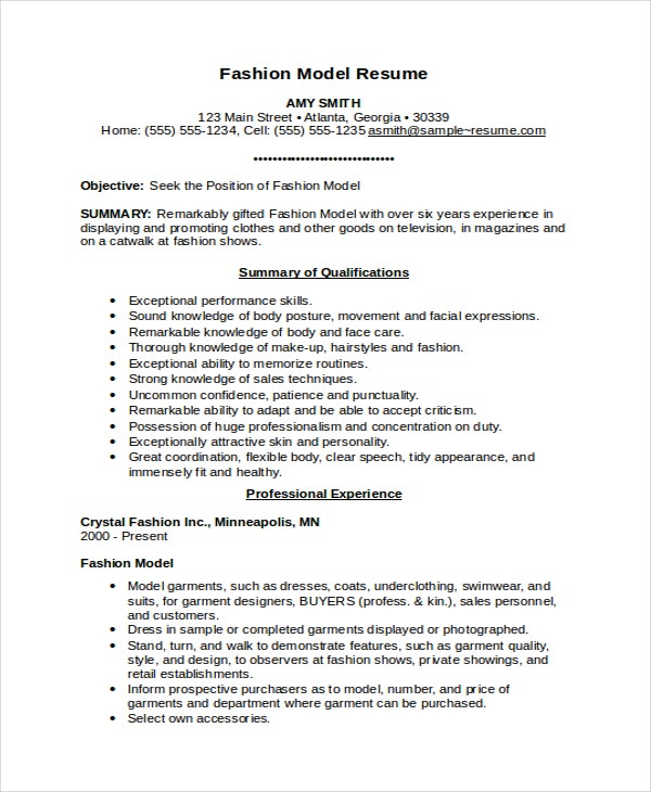 model resume template free word document premium templates fashion examples skill bars on Resume Fashion Model Resume Examples