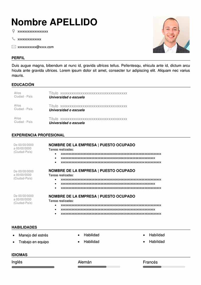 modelo curriculum sencillo para rellenar cv word hacer un resume vitae data center common Resume Modelo Para Hacer Un Resume