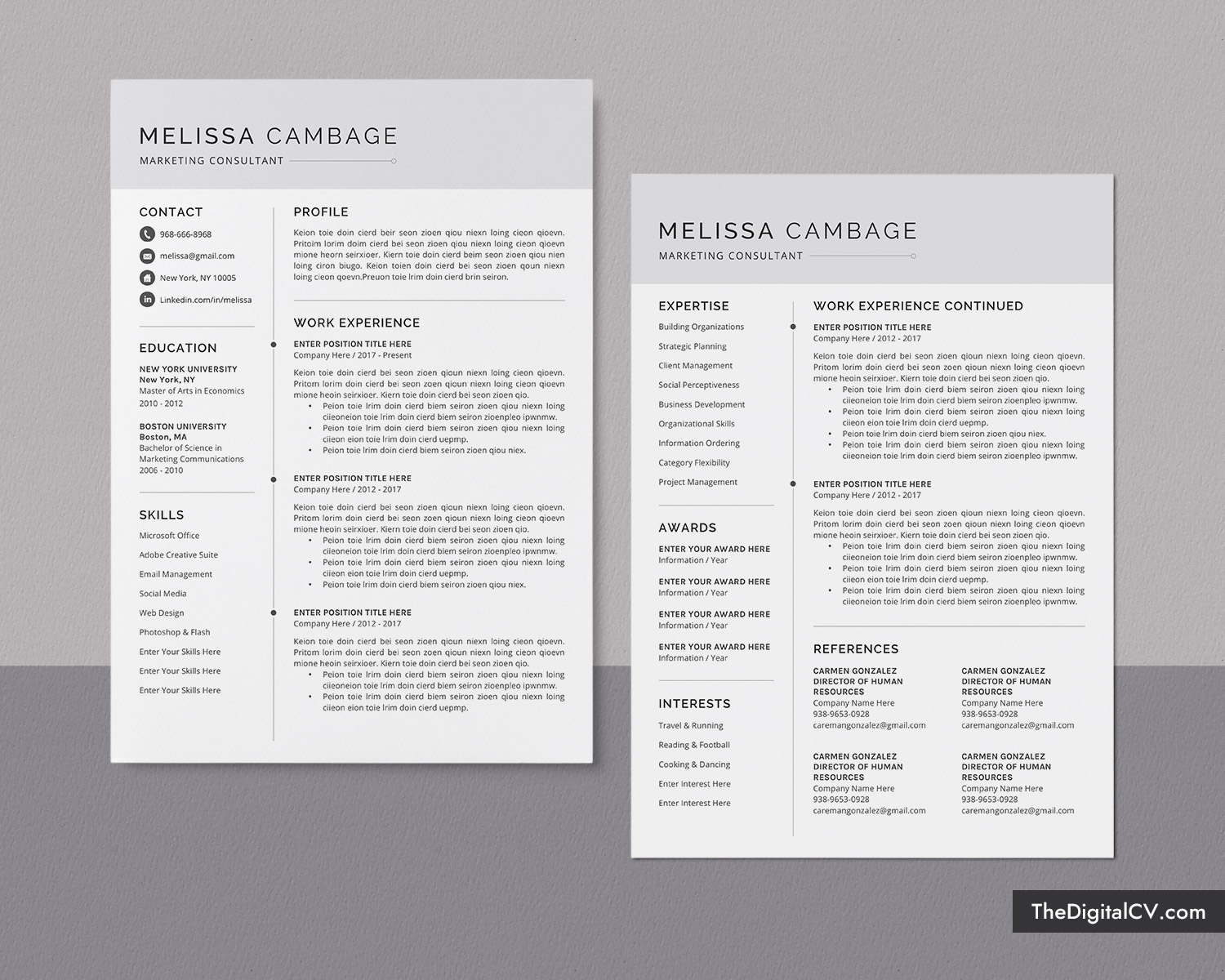 modern cv template for job application curriculum vitae microsoft word resume Resume Modern Simple Resume Template