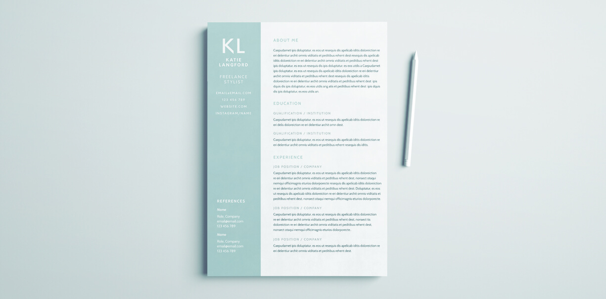 modern resume template for indesign free cover microsoft brain chronological example Resume Resume Indesign Template Free Download