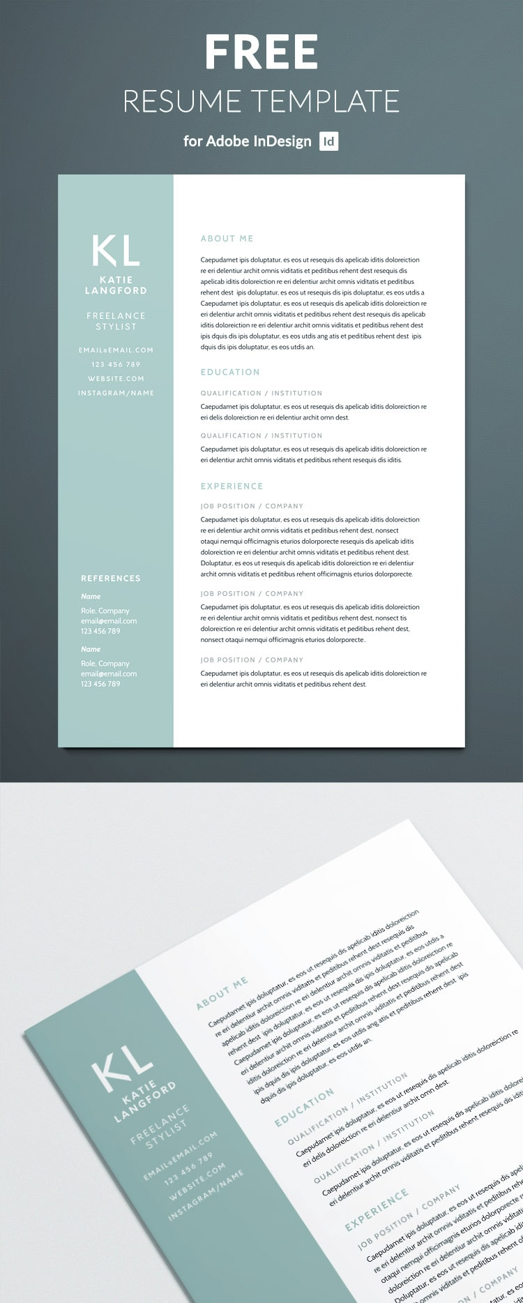 modern resume template for indesign free full driver objective sample tips making private Resume Resume Indesign Template Free Download