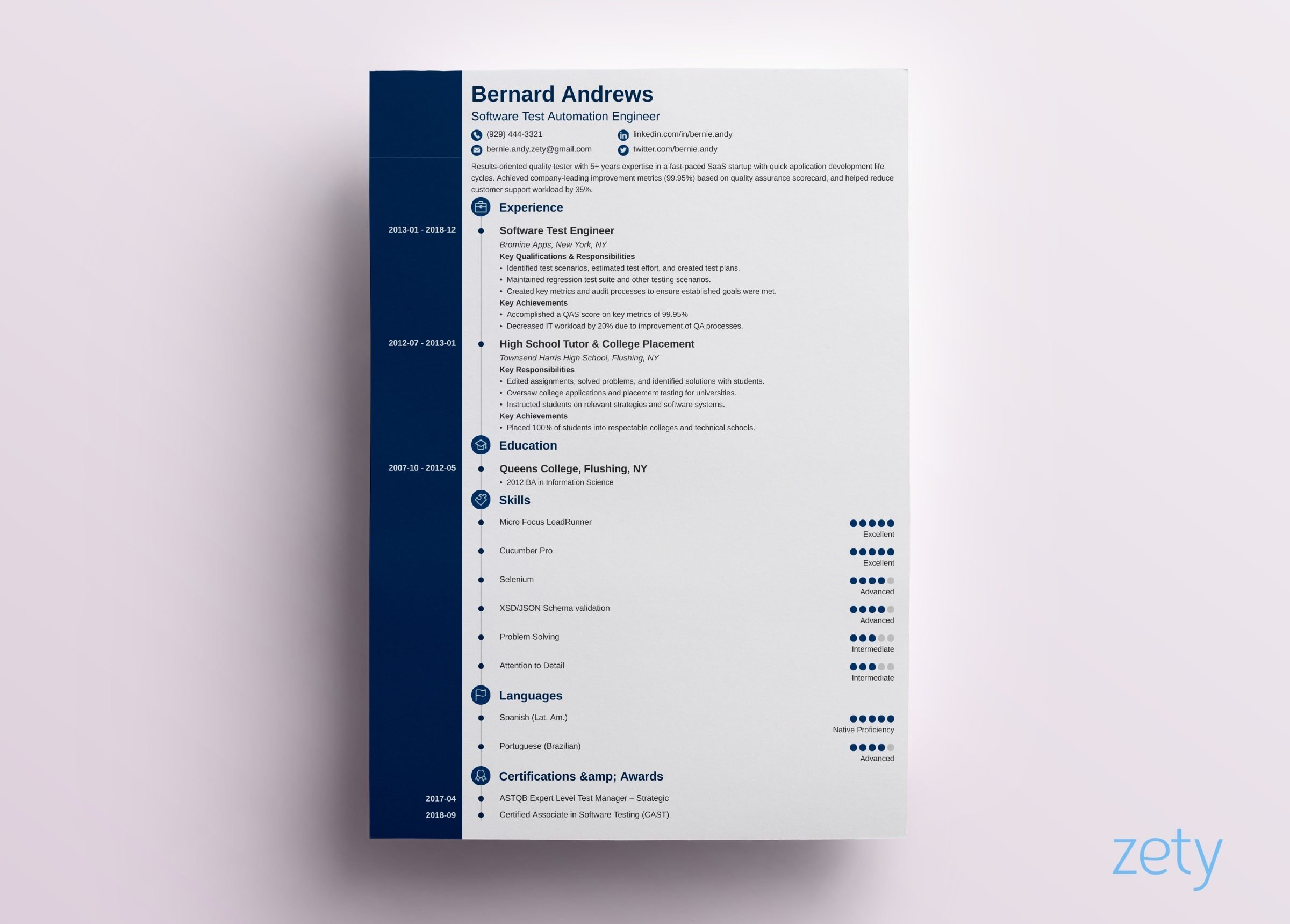 modern resume template format examples for simple templates concept quick builder float Resume Modern Simple Resume Template