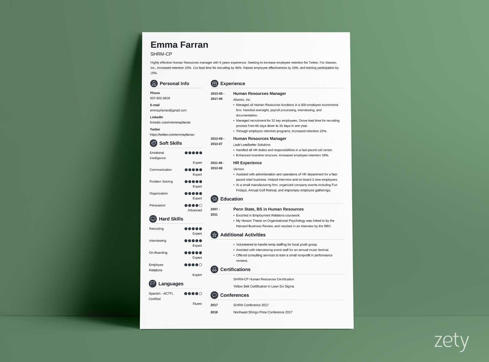 modern resume template format examples for zety templates care companion employment and Resume Zety Resume Template Download