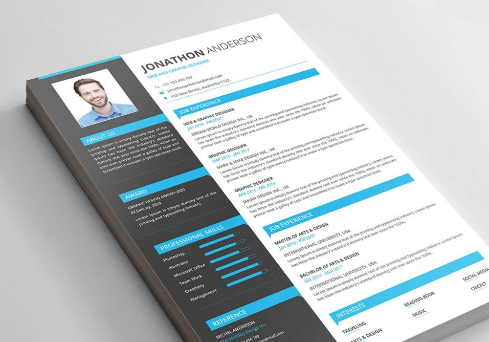 modern resume templates free maxresumes template 1000x700 professional services bartender Resume Resume Template Download 2020