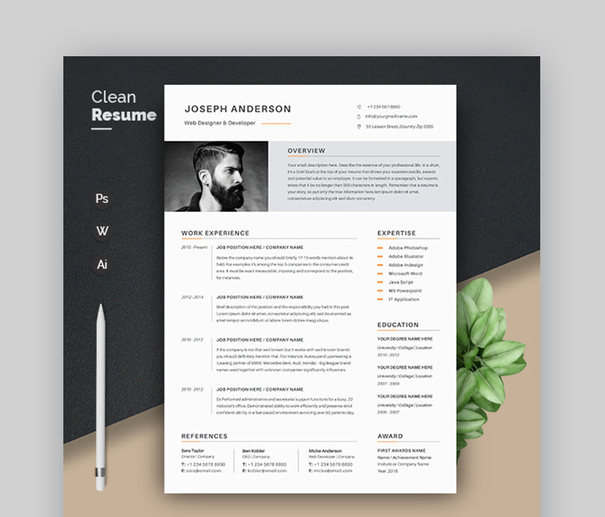 modern resume templates with clean elegant cv designs simple template entry level data Resume Modern Simple Resume Template