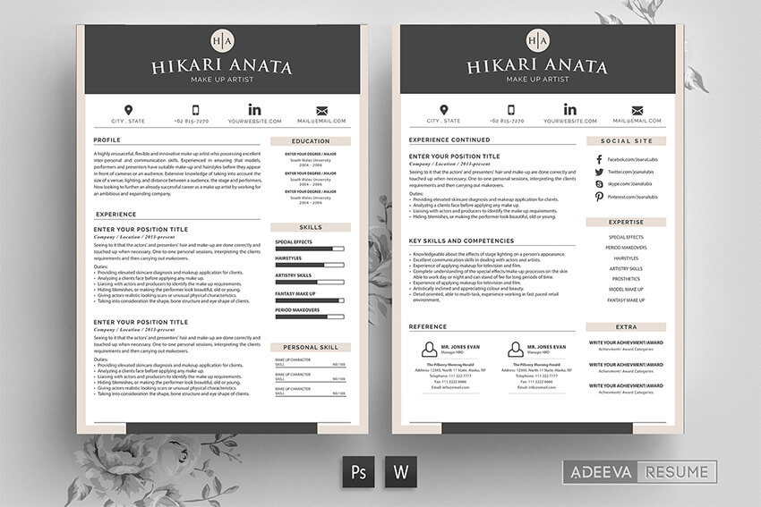 modern resume templates with clean elegant cv designs visually attractive simple template Resume Visually Attractive Resume