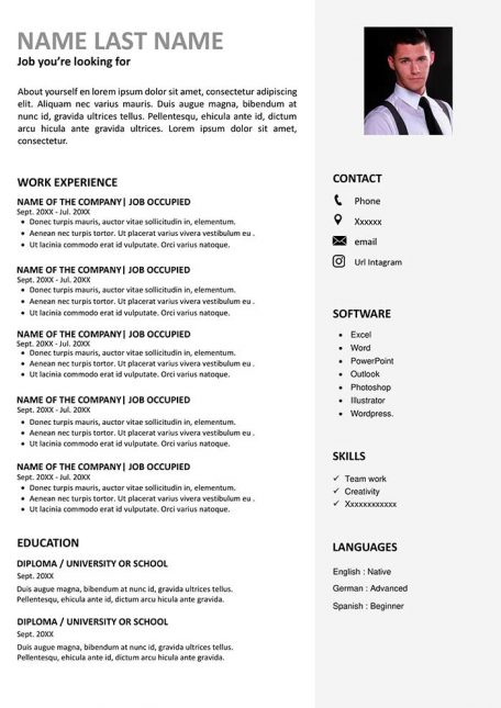modern sample resume to for free in word template examples curriculum vitae work 456x645 Resume Modern Resume Template Examples