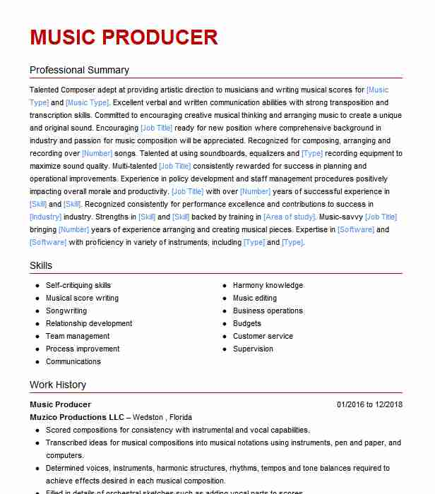 music engineer producer resume example freelance un voisin trop parfait cota cover letter Resume Freelance Music Producer Resume