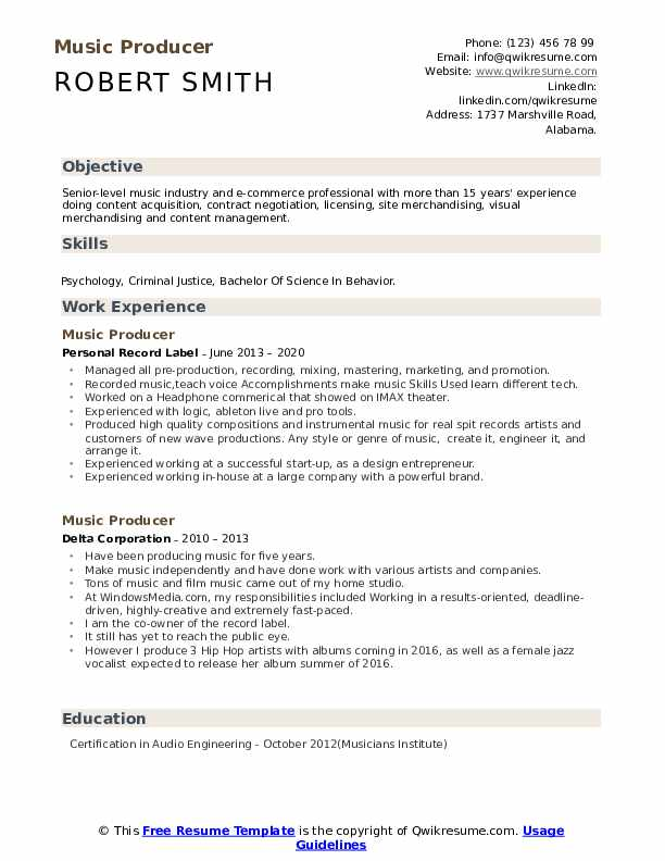 music producer resume samples qwikresume freelance pdf cota cover letter forensic analyst Resume Freelance Music Producer Resume