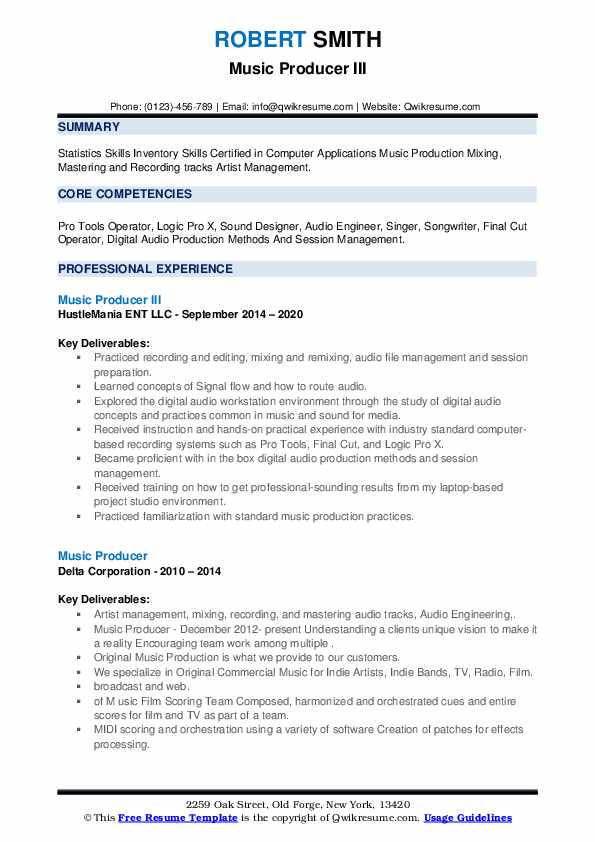 music producer resume samples qwikresume freelance pdf cover letter generic biology tutor Resume Freelance Music Producer Resume