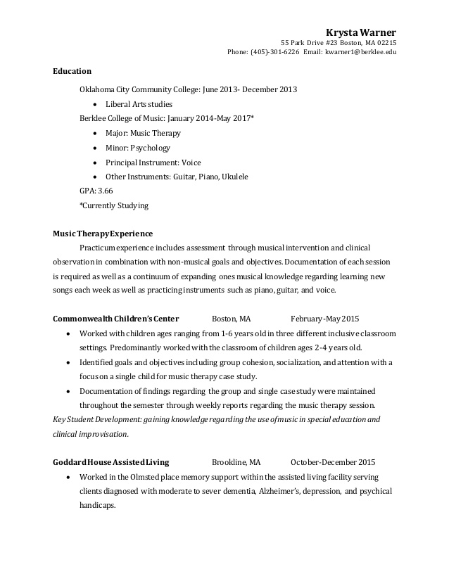 music therapy resume currently studying on full charge bookkeeper best examples cna with Resume Currently Studying On Resume