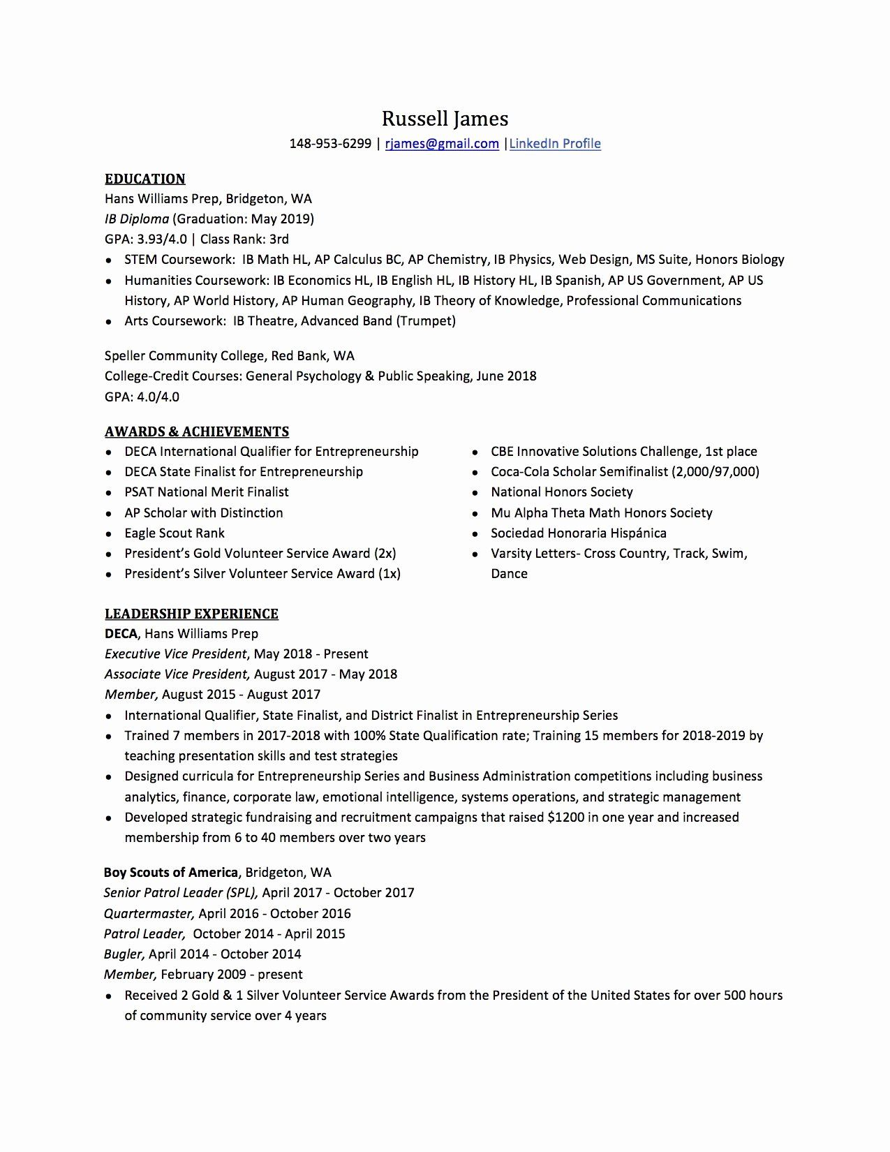 national honor society description resume inspirational high school to write the college Resume Honor Society On Resume