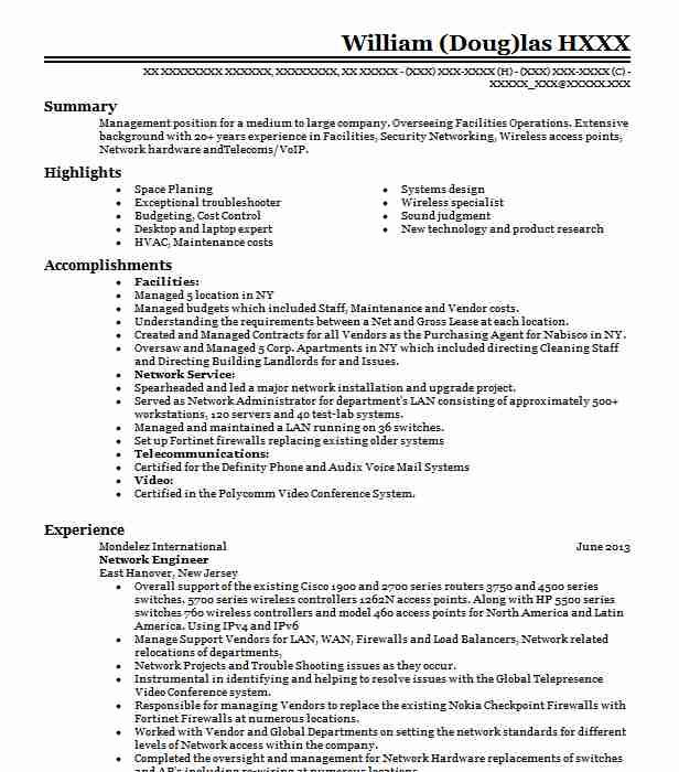 network engineer resume example technical resumes livecareer career objective for payroll Resume Career Objective For Network Engineer Resume