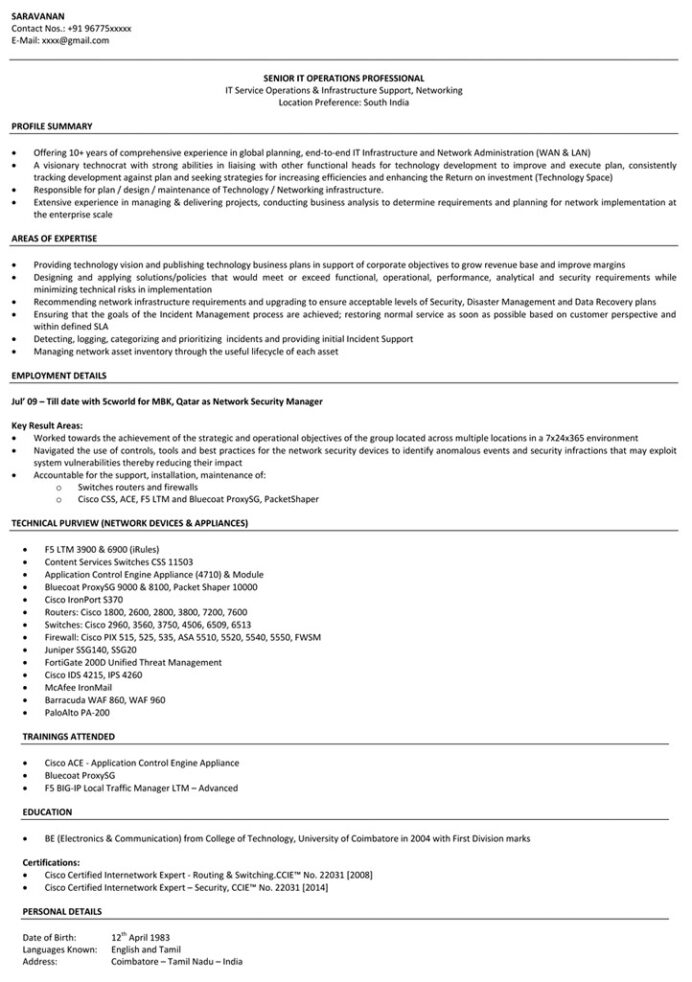 network engineer resume sample networking naukri examples financial analyst objective Resume Network Engineer Resume Examples
