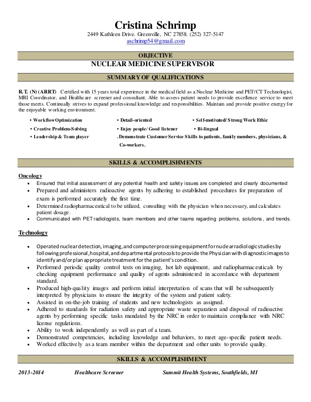 new resume nuclear medicine technologist professional writers finance linkedin Resume Nuclear Medicine Technologist Resume