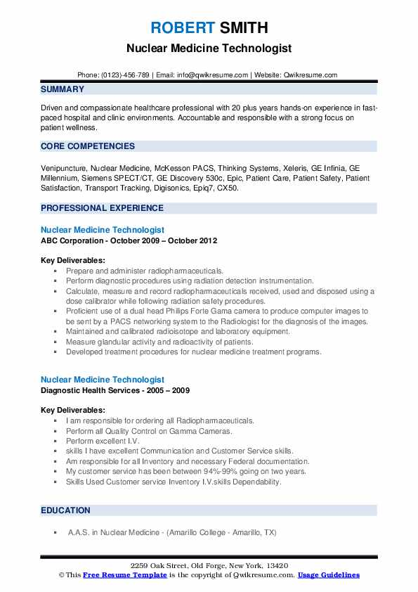 nuclear medicine technologist resume samples qwikresume pdf construction project engineer Resume Nuclear Medicine Technologist Resume